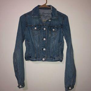American eagle jean jacket size xs